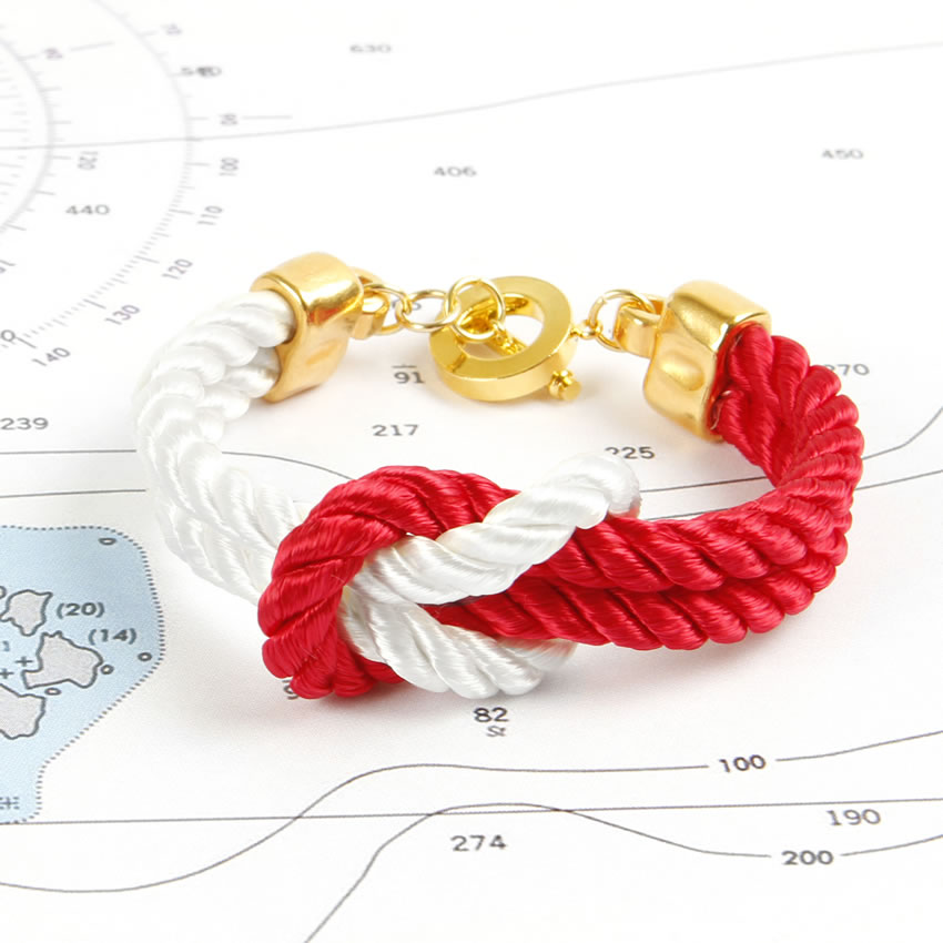 Nautical Red and White Sale Bracelet