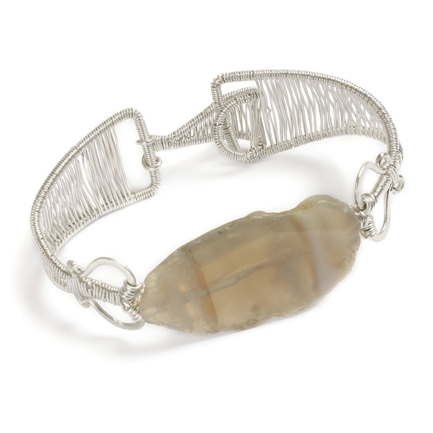 Wire-wrapped bracelet