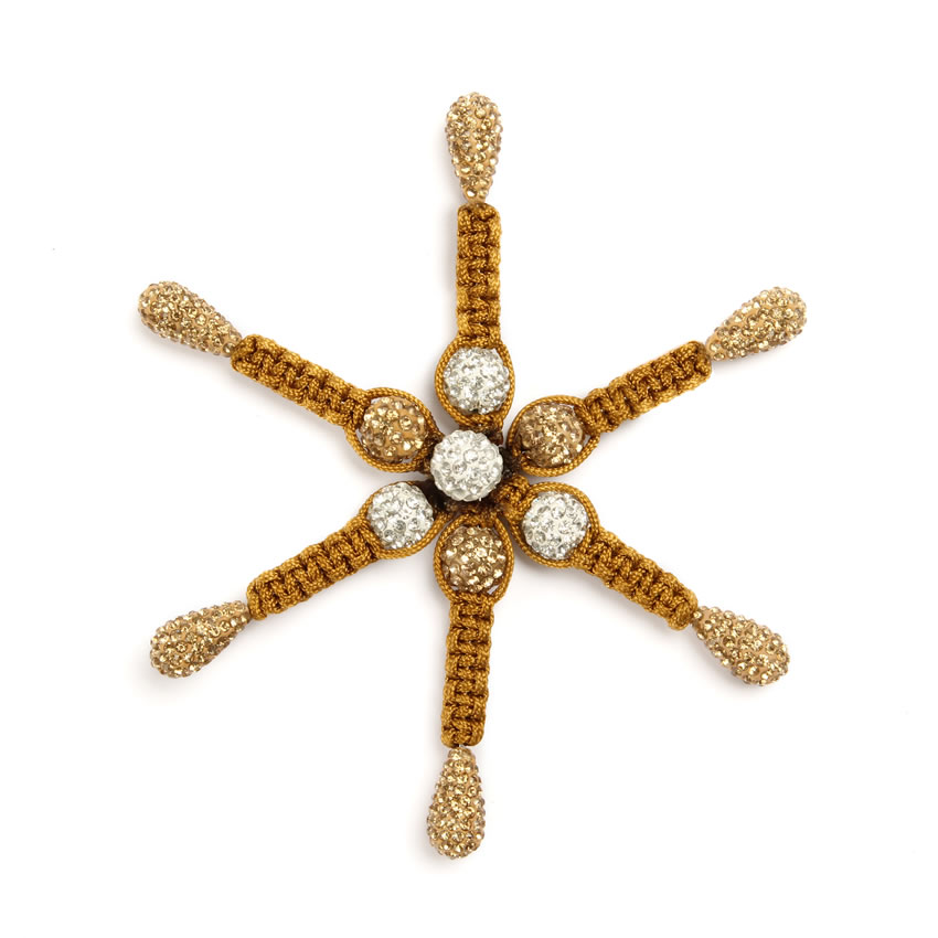 Gold Shamballa Fashion Snowflake
