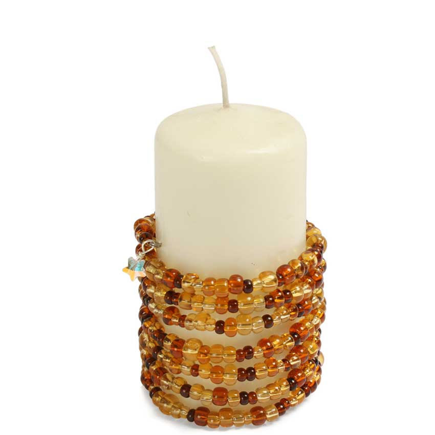 Golden Glimmer Candle Ring