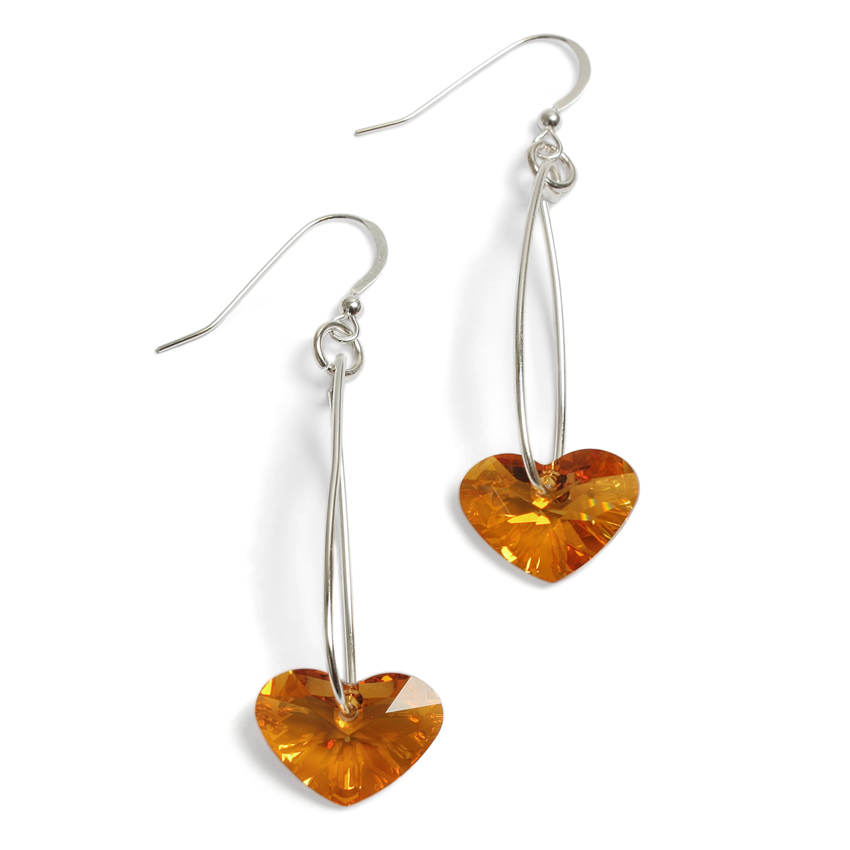 Swinging Hearts Earrings