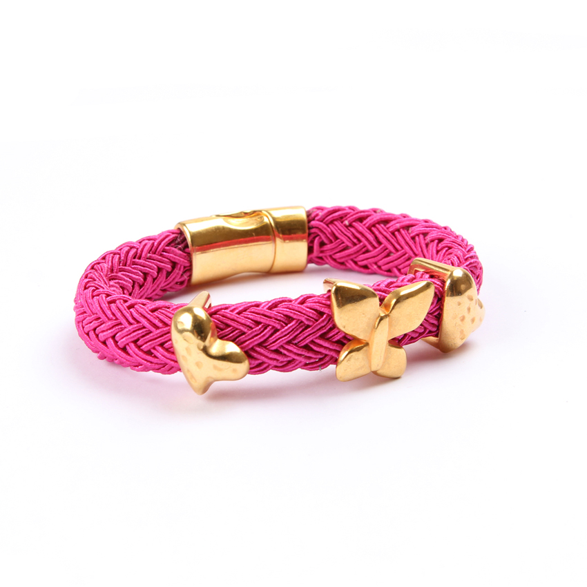 Fuchsia 'Melody Braid' Bracelet