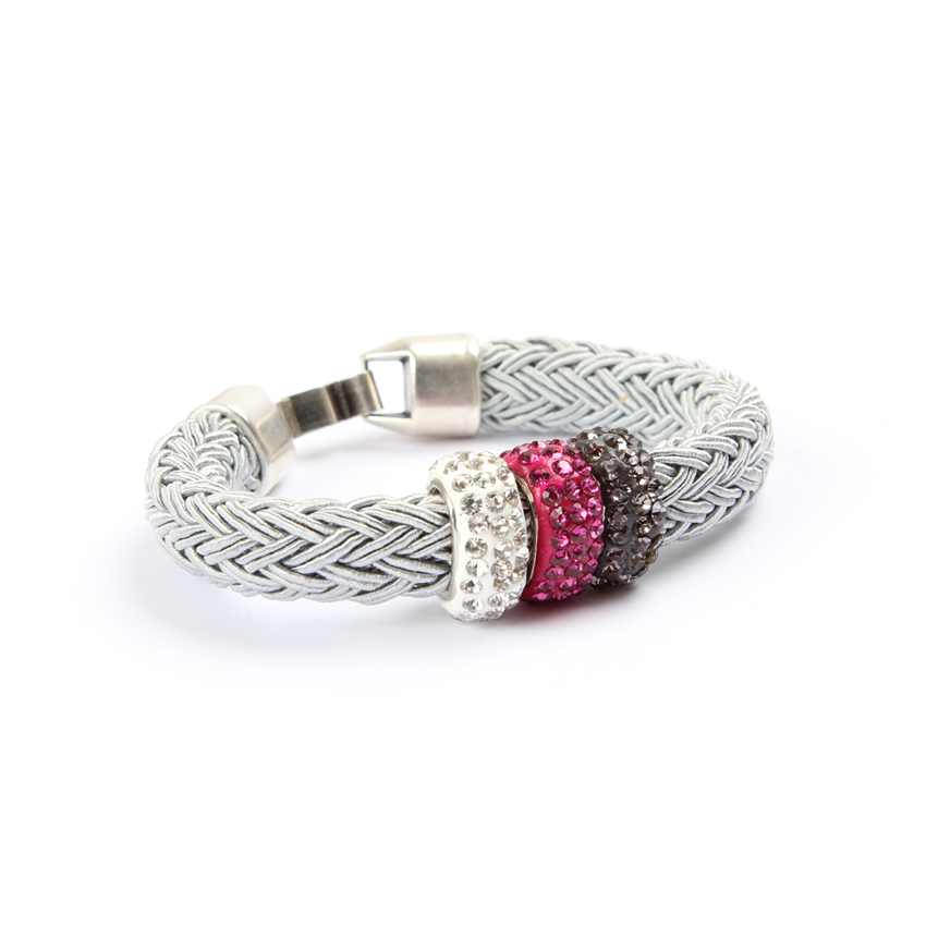 Silver 'Melody Braid' Bracelet