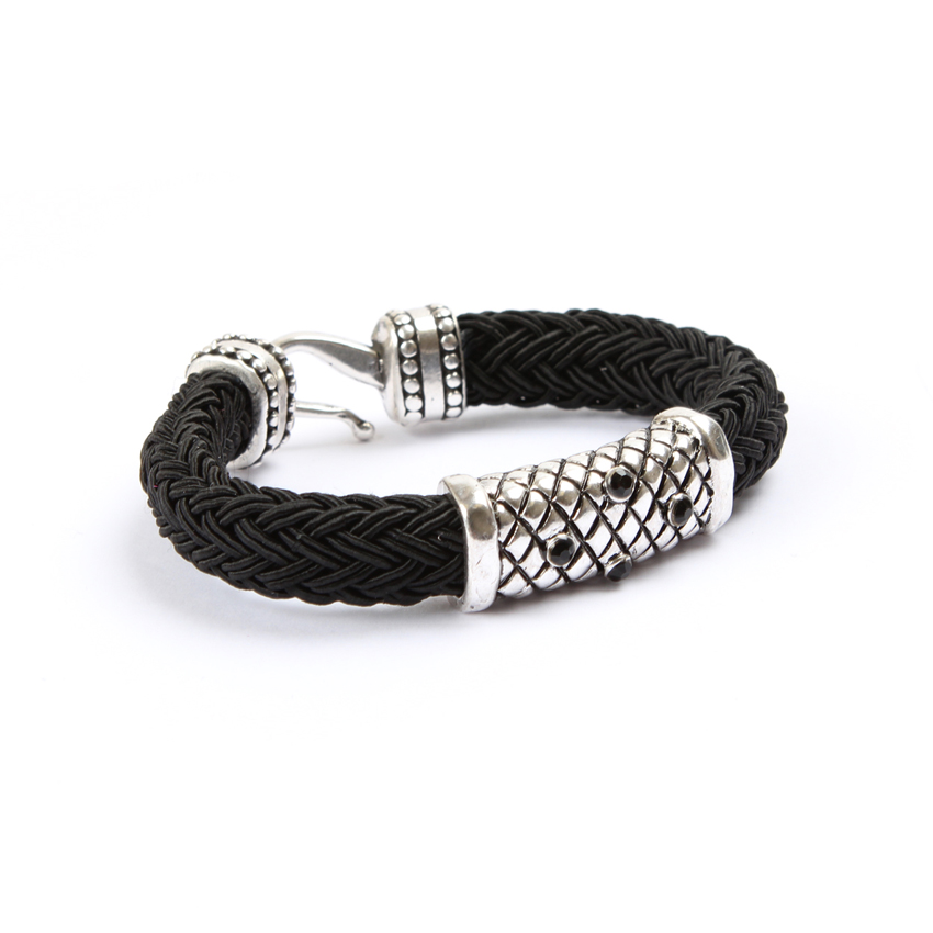 Black 'Melody Braid' Bracelet