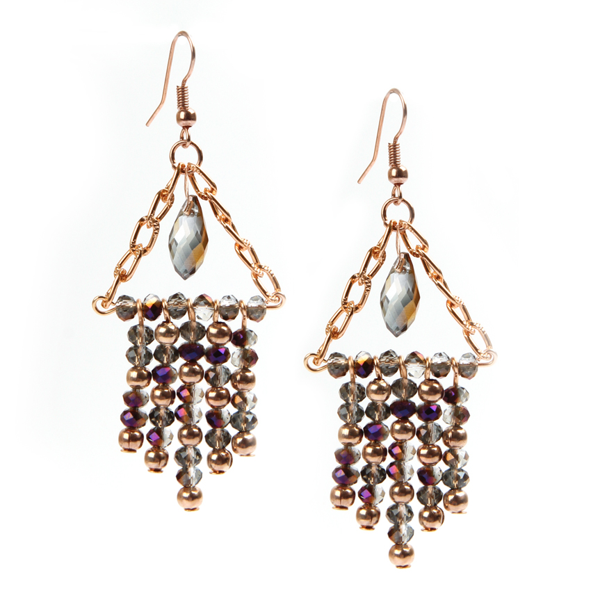 Shimmer Crystal Chandelier Earrings