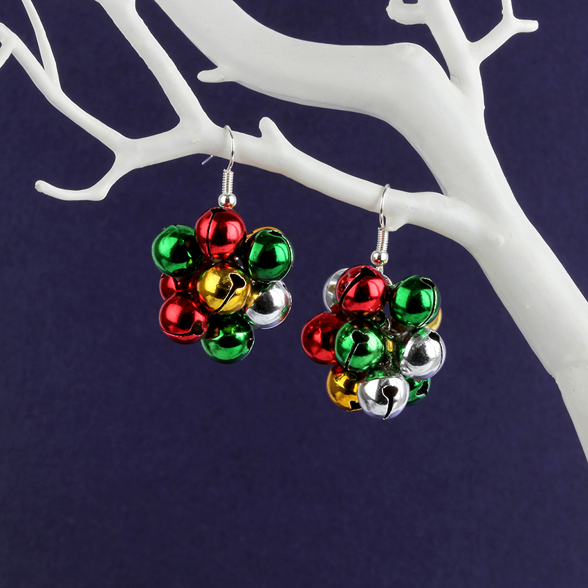 Jingle Bell Cluster Earrings