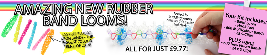 NEW Rubber Band Looms - Just In! Fantastic Value & Free BONUS Bands!