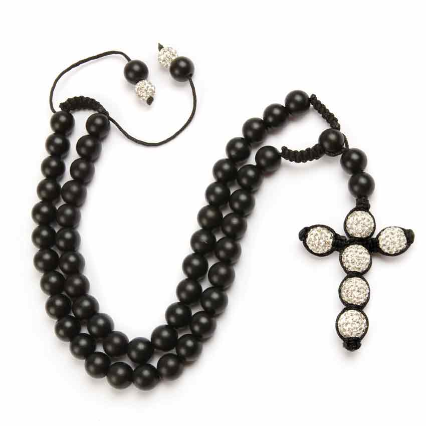 Shamballa Fashion Cross Necklace Tutorial