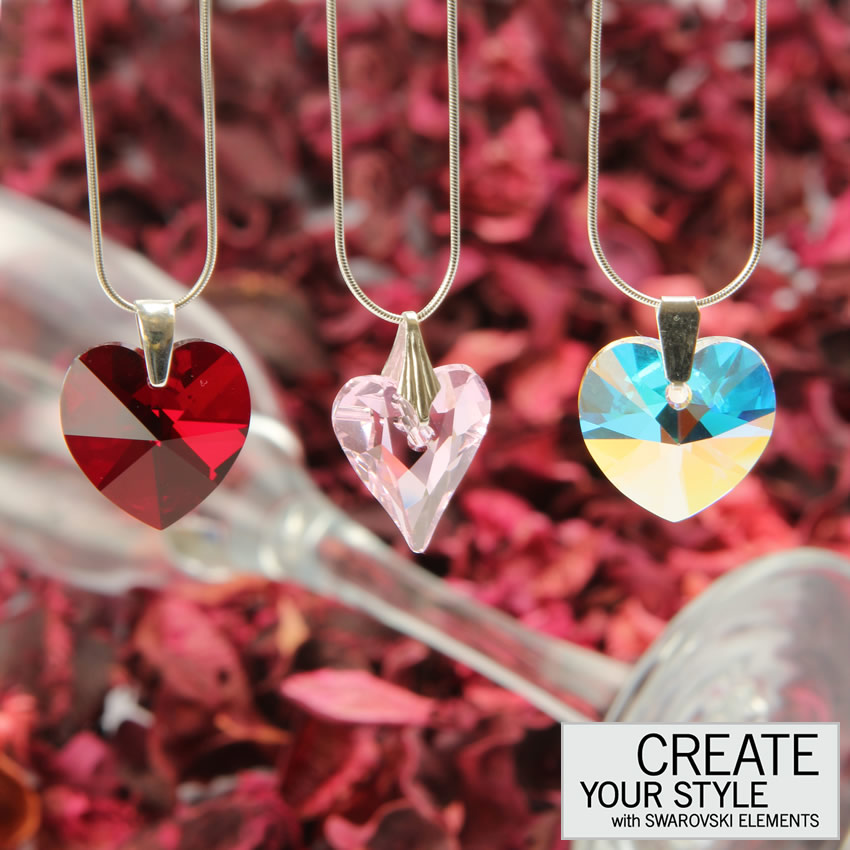 Swarovski Elements Heart Necklaces