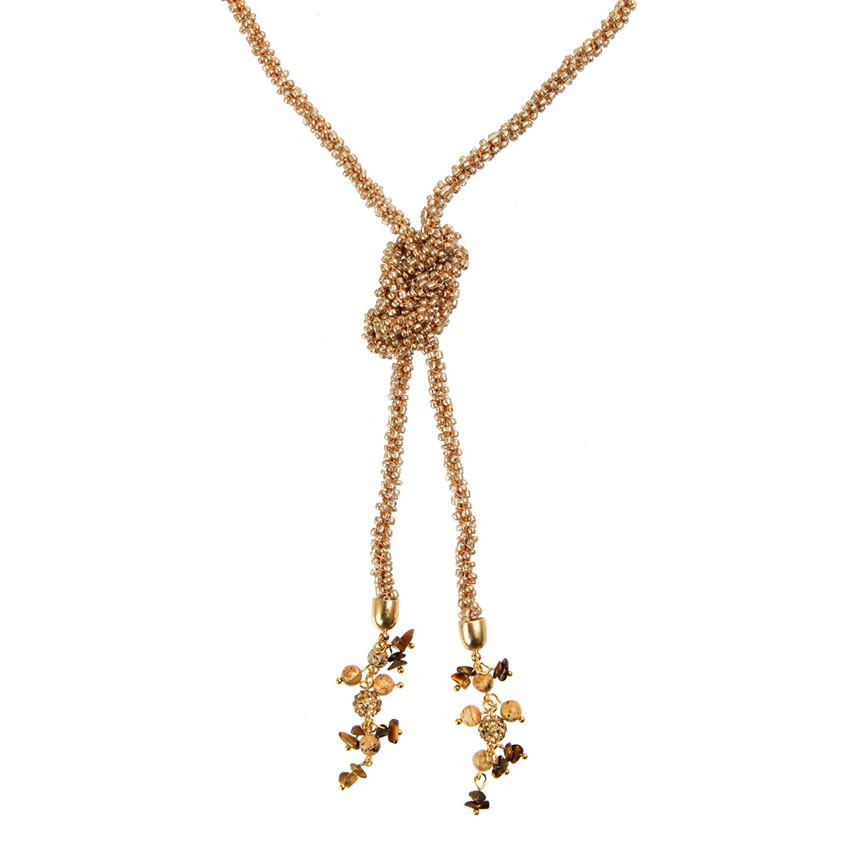 Rose Gold Waterfall Necklace