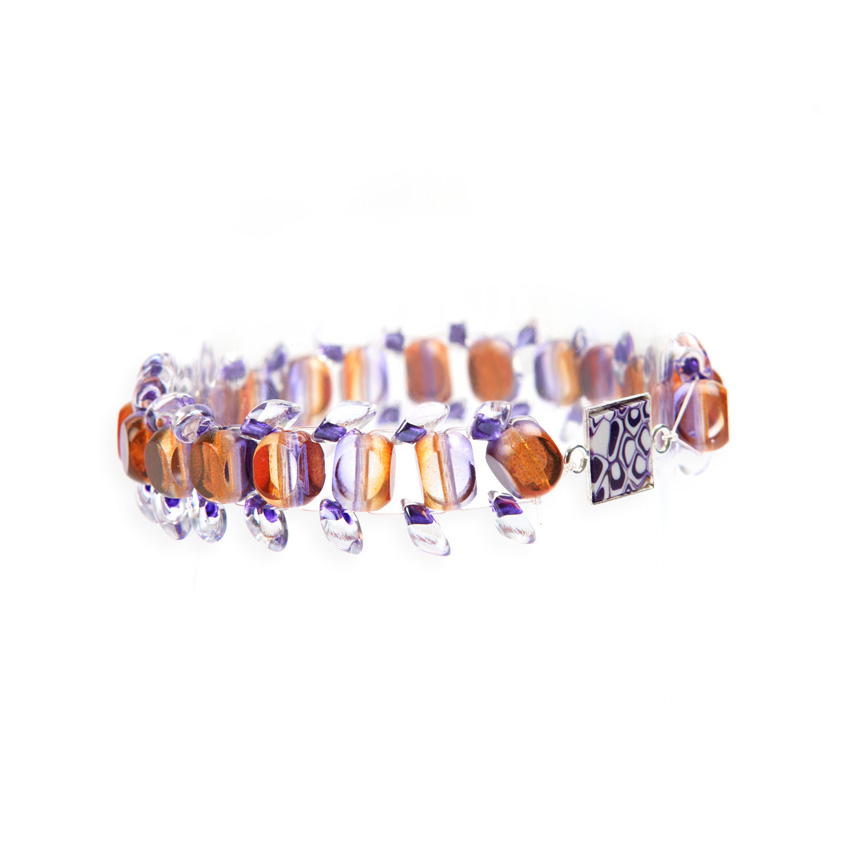 Orange and Purple 'Psychedelia' Bracelet