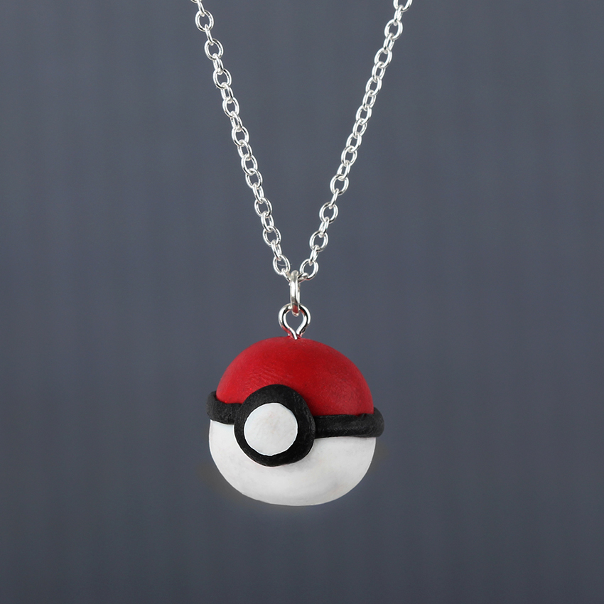 Pok�ball Pendant Necklace