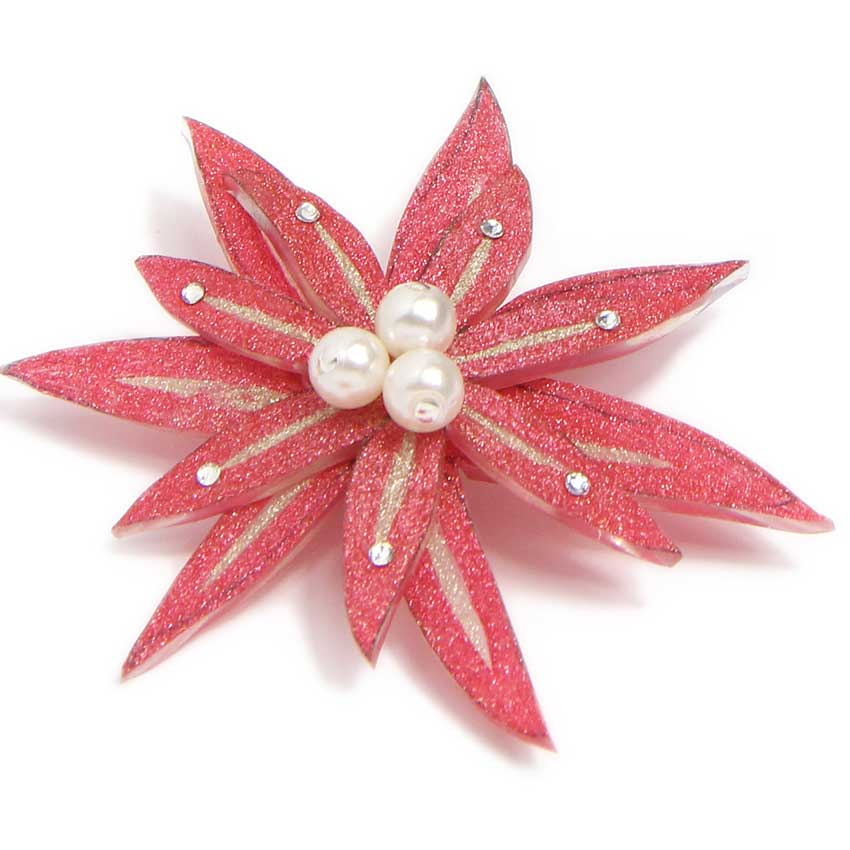 Art Deco Pink Flower