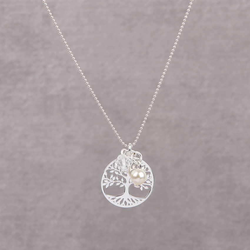 Sterling Silver Tree Charm Necklace