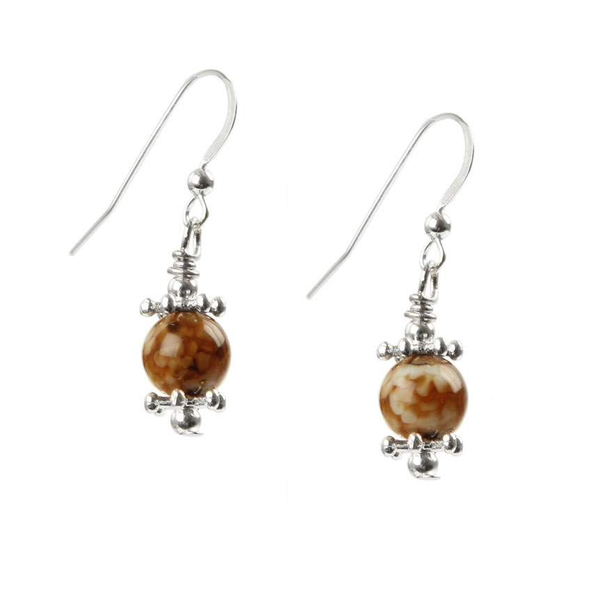 Mystic Agate 925 Champagne Bubble Earrings