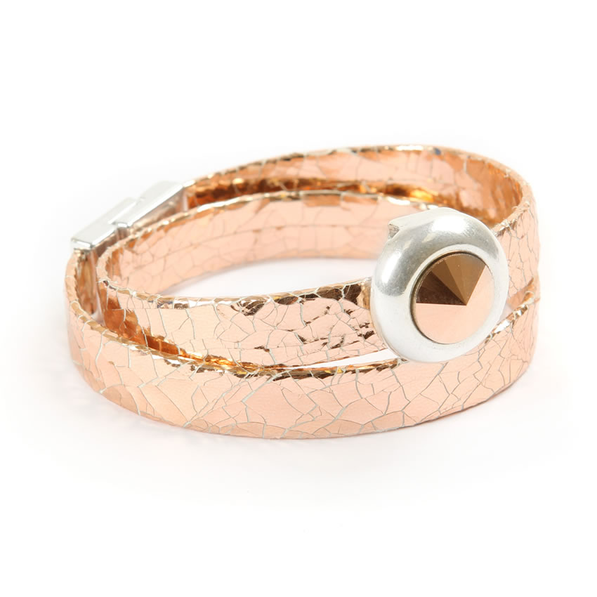 Jewel Wrap Rose Gold Bracelet