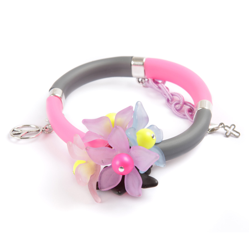 Pop Art Bangle Neon Flowers