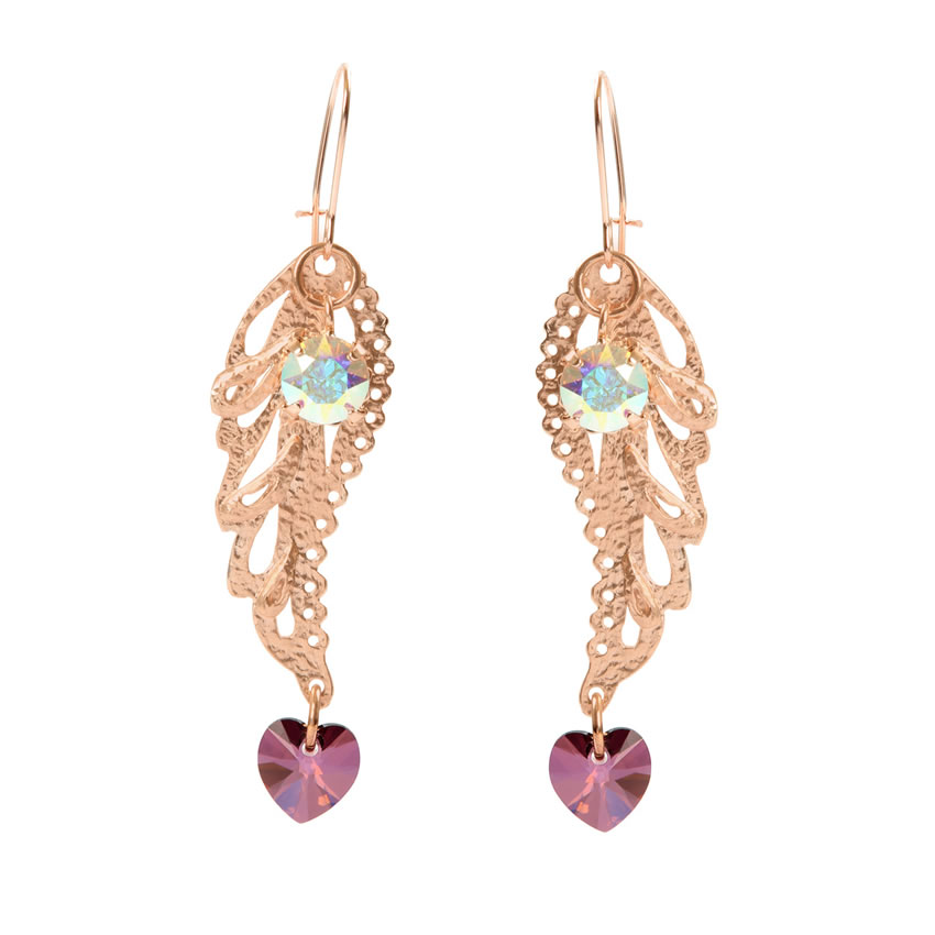 Angelic Rose Gold Earrings