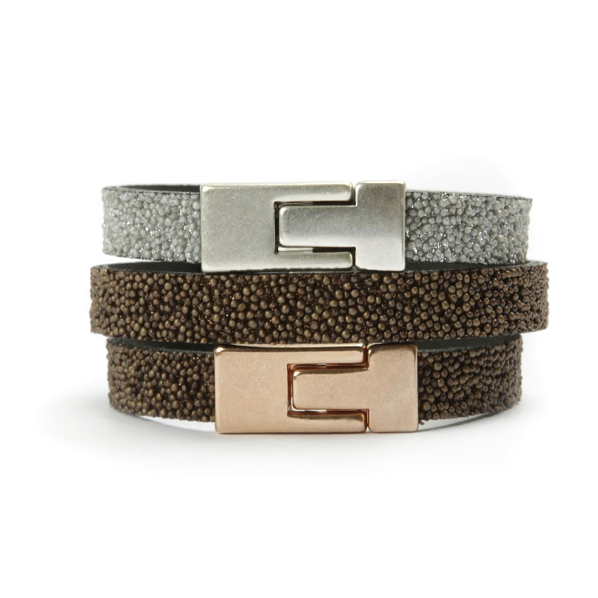 Brown Caviar mix Bracelets