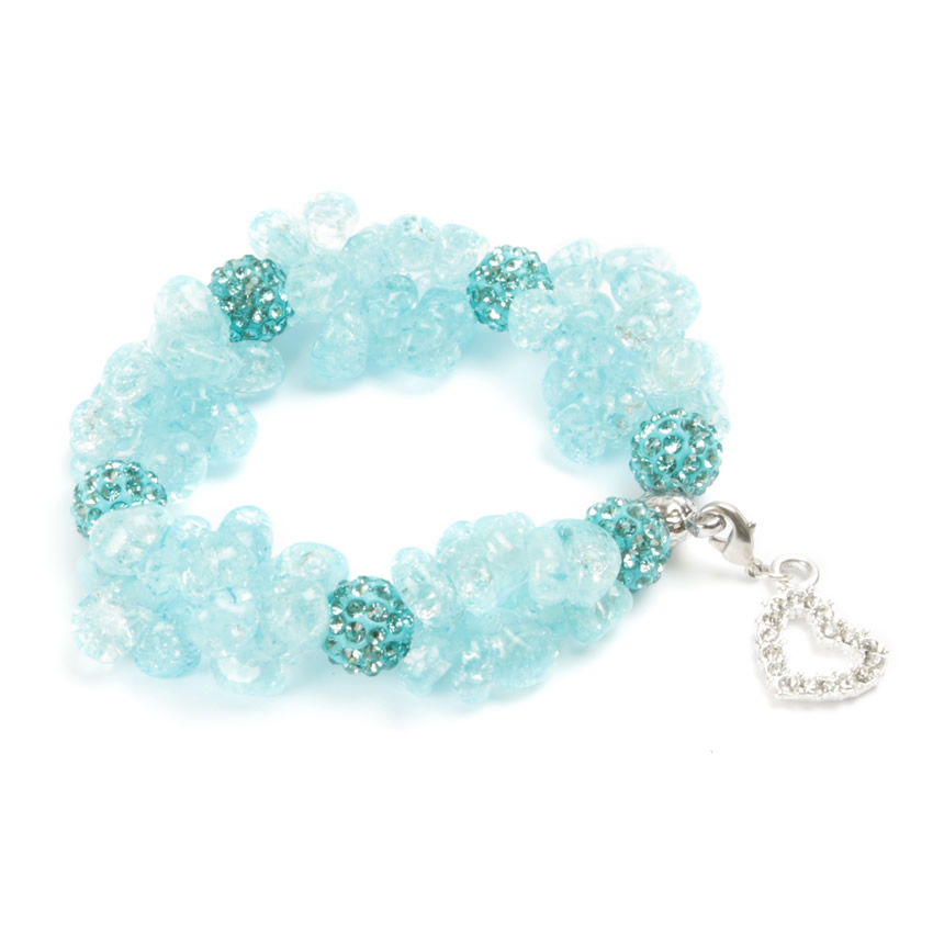 Cherish Bracelet Crackled Blue