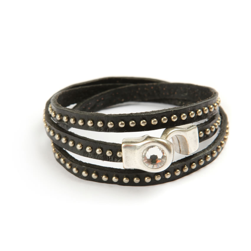 Temptation Black Stud Bracelet
