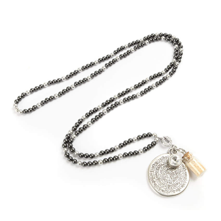 Cleopatra's Treasures Silver Necklace