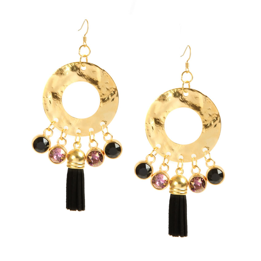 Enigma Gold Earrings