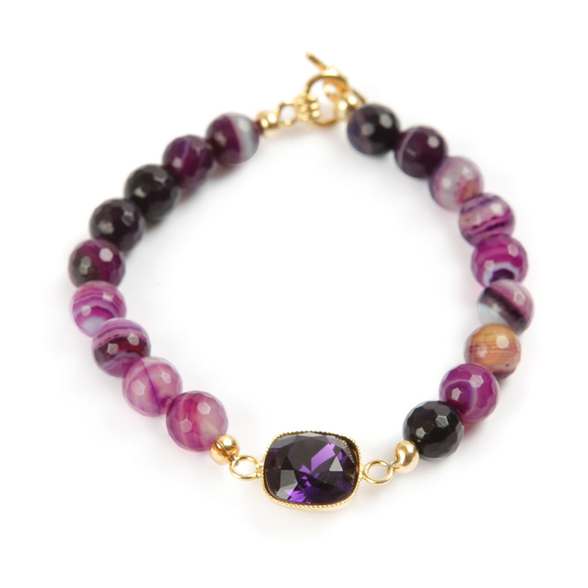 Revival Purple Velvet Bracelet