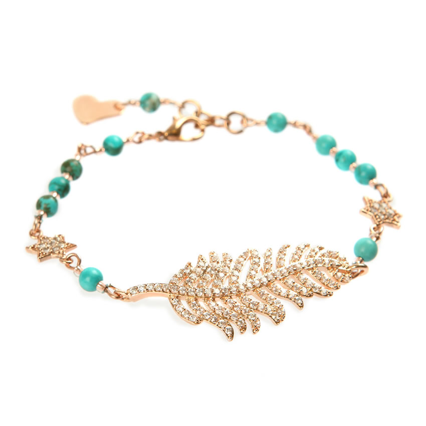 Frosted Feather Blush Bracelet