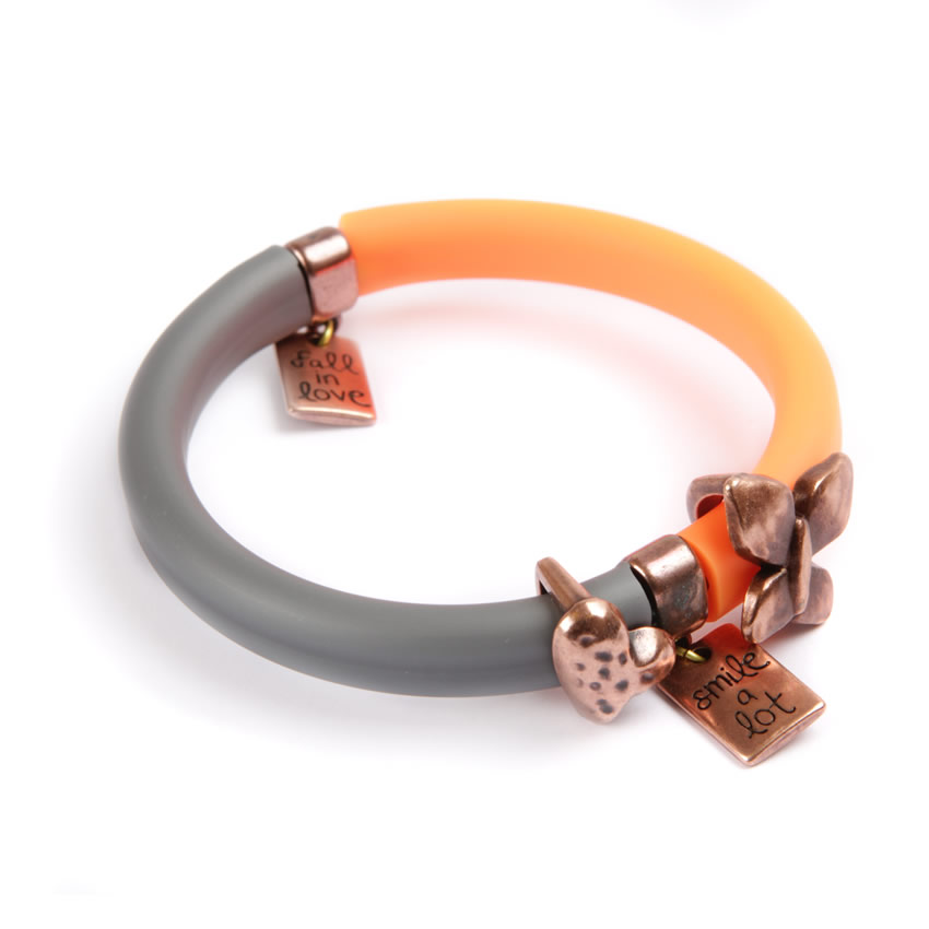 Pop Art Bangle Copper Charm