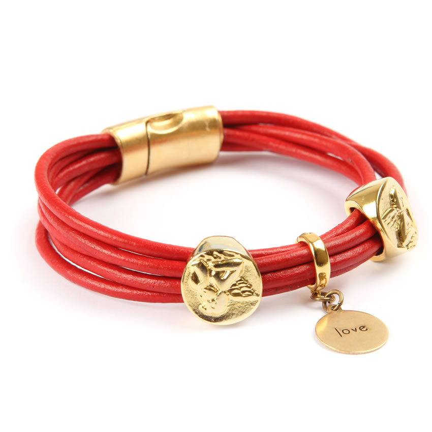 Luxe Cupid Leather Bracelet