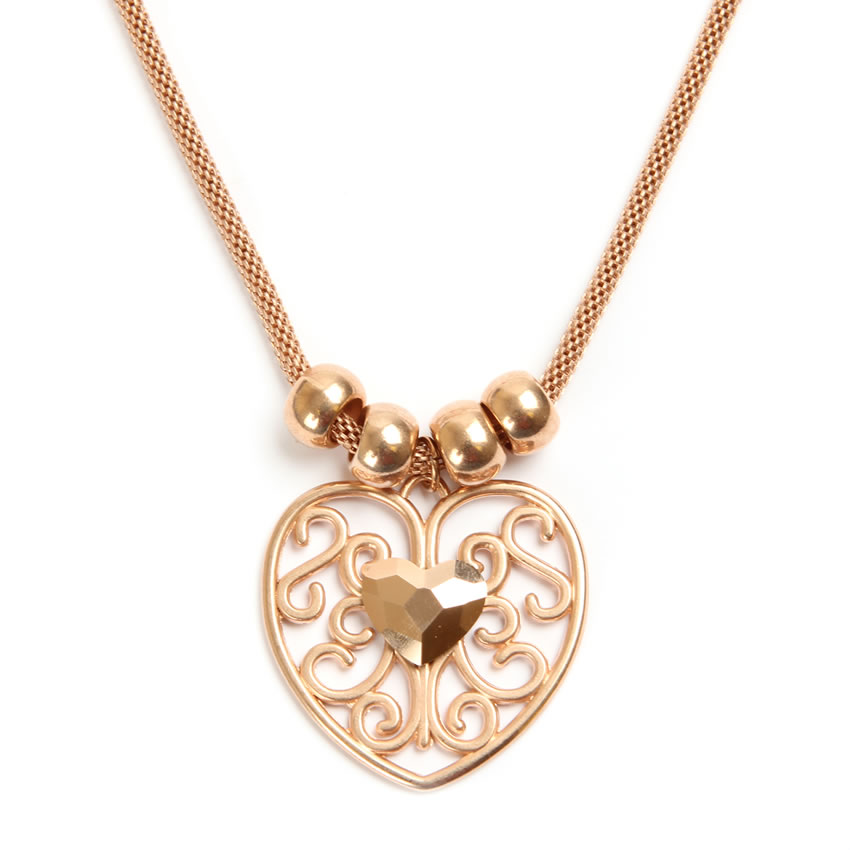 Queen of Hearts Rose Gold Necklace