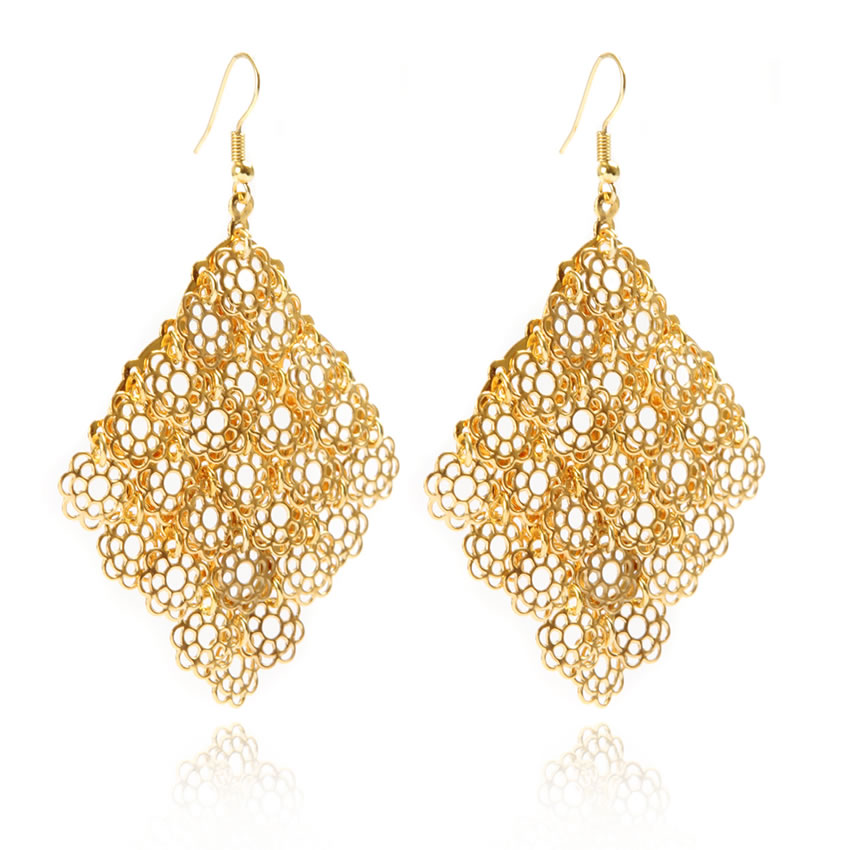 Titania Gold Flower Earrings