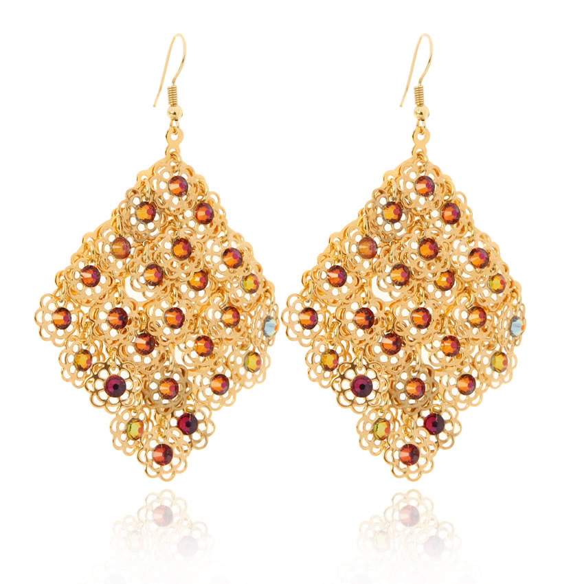 Fantasy Titania Gold Earrings