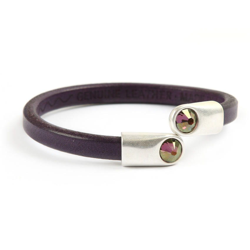 Zen Purple Crystal Bracelet