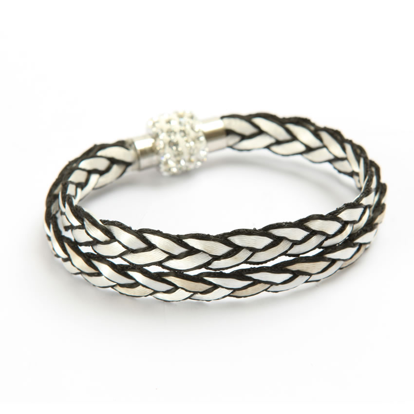 Starlight White Braided Bracelet