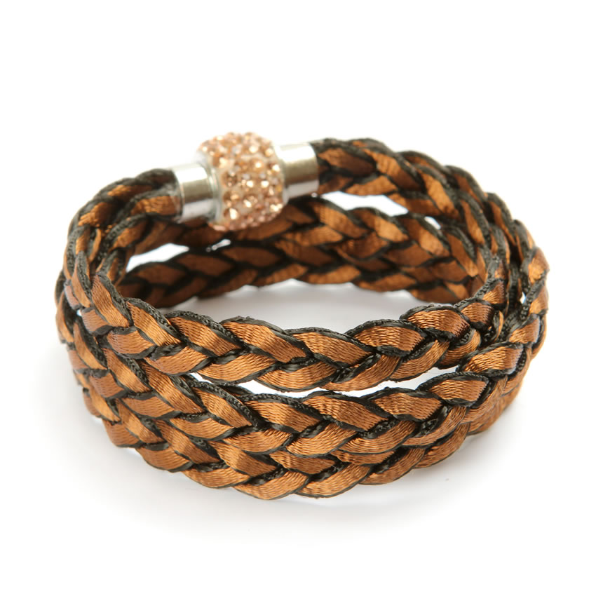 Starlight Brown Braided Bracelet