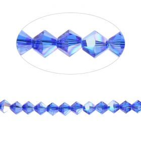 5328 Swarovski Crystal Bicone Beads 6mm Majestic Blue AB Pk24