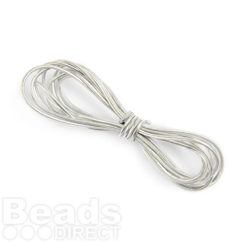 Silver 1.6mm Elasticated Shock Cord 2 Metres