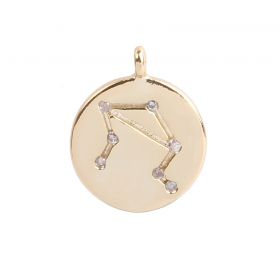 Gold Plated Libra Constellation Zodiac Charm 11mm Pk1
