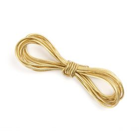 Gold 1.6mm Elasticated Shock Cord 2 Metres