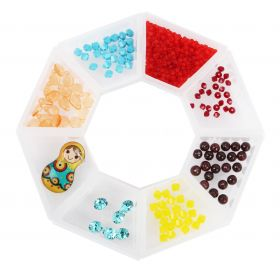Beads Direct 'Carnival' Beads and Crystal Selection with Storage Ring