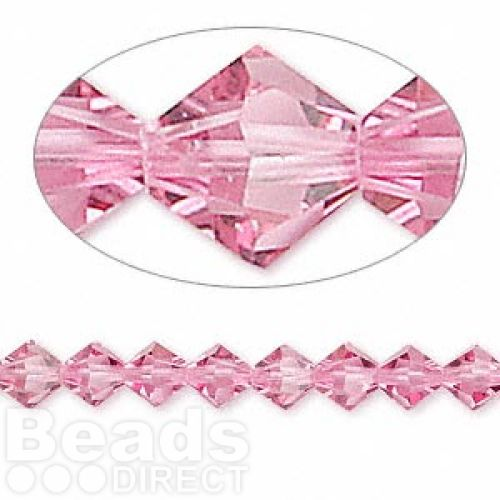5328 Swarovski Crystal Bicones Xillion 6mm Rose Pk24