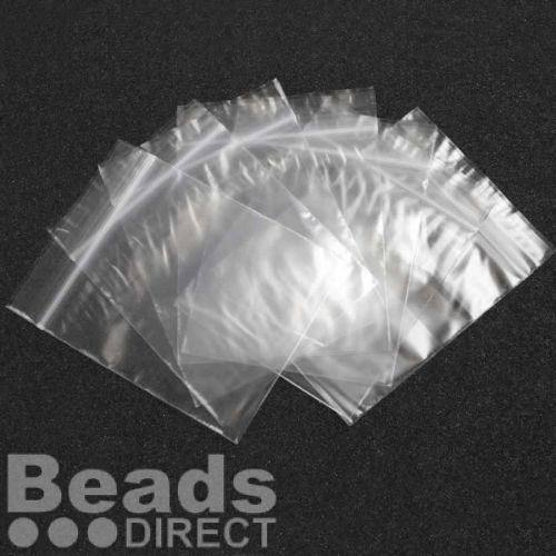 Clear Polythene Self Seal Bags 76x83mm Pk100