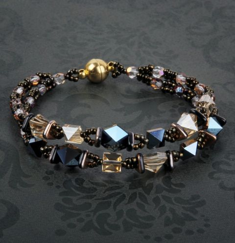 Square Hex Double Spike Bracelet