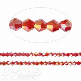 Essential Crystal 4mm Bicones Siam AB Pk120