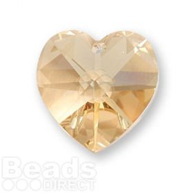 6228 Swarovski Crystal Heart 17.5x18mm Golden Shadow Pk1