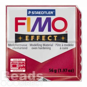 Staedtler Fimo Effect Polymer Clay Metallic Ruby Red 56g