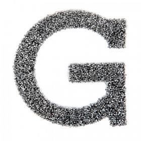 Swarovski Crystal Letter 'G' Self-Adhesive Fabric-It Black CAL Pk1