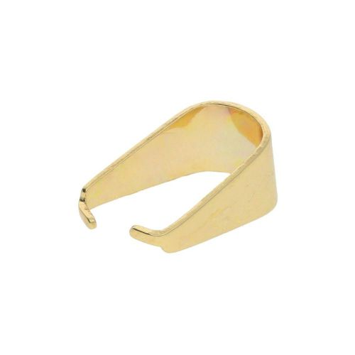 Pinch bail / surgical steel / 13x6x9mm / gold / 4pcs